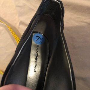 Bandolino Shoes - Bandolino Black Satin and Patent Leather Wedge